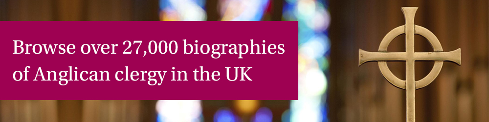Browse over 27,000 biographies of Anglican clergy in the UK