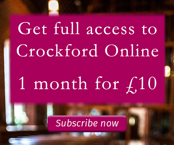 Subscribe to Crockford's
